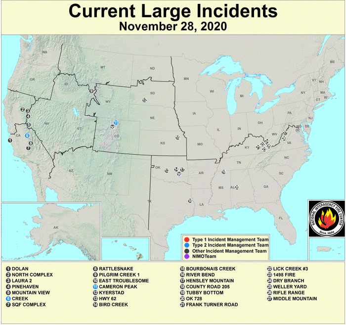 fire map not updated recently