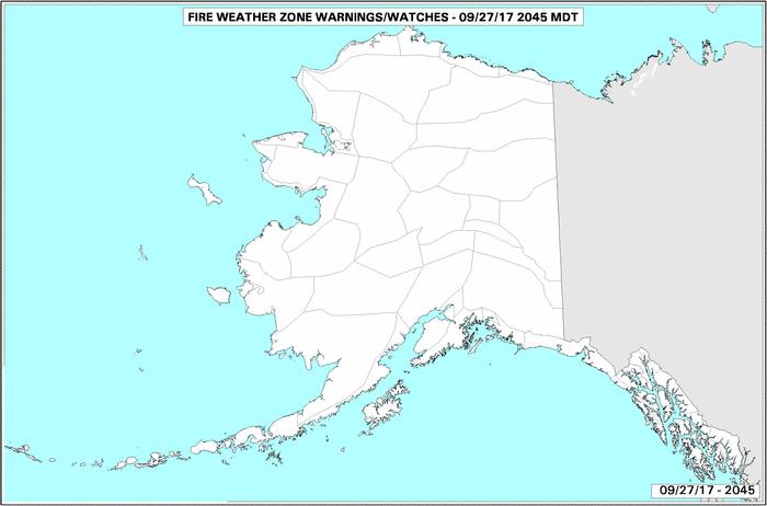 Alaska Detections Live Thumbnail Of The Current U S Fire Danger Map