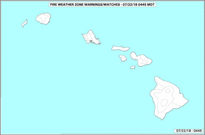 Hawaii Fire Advisories