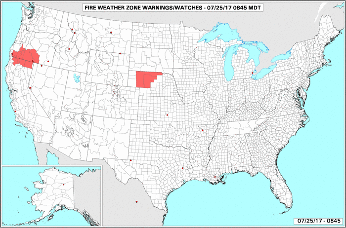 Live Thumbnail of the Current U.S. Fire Danger Map